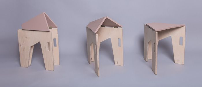 Folding Chairs And Stools By Sorana Pintilie