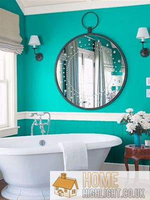 Beauty Small Bathroom Designs With Green Accent Modern Blue Bathroom Designs & Ideas « Home Highlight