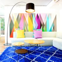 Moroccan Rugs In Contemporary Living Room Looks