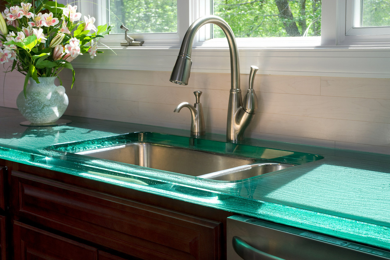 Think Glass Countertops Thinkglass Countertop Home Iq