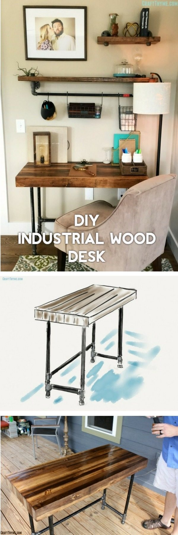 Diy Farmhouse Style Desk 40 Easy Diy Desk Ideas And Designs With Plans On A Budget