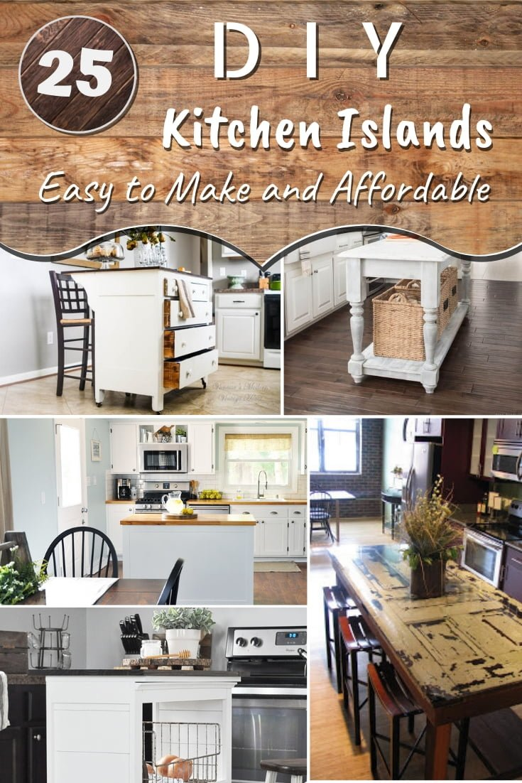 Easy Kitchen Design Ideas Diy Kitchen Island 25 Easy Ideas That You Can Build On A Budget