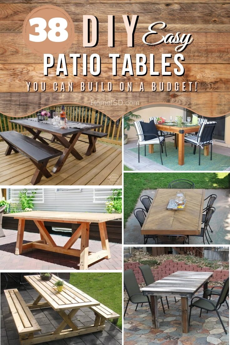 38 Easy Diy Patio Tables You Can Build On A Budget