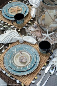 Beach-themed Table for Summer with Pfaltzgraff Montego ...