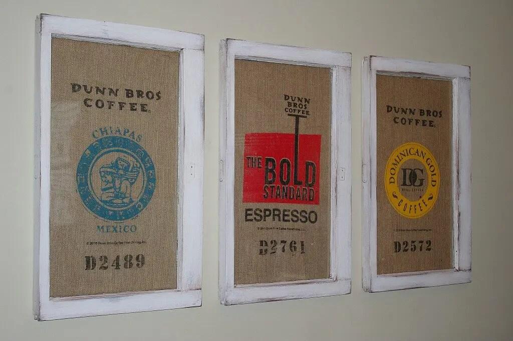 Burlap Coffee Bean Sacks Remade Into Robust Decor Homejelly