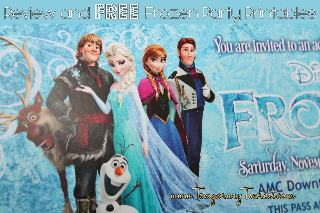Disney\u0027s Frozen Party Printable Set ~ FREE