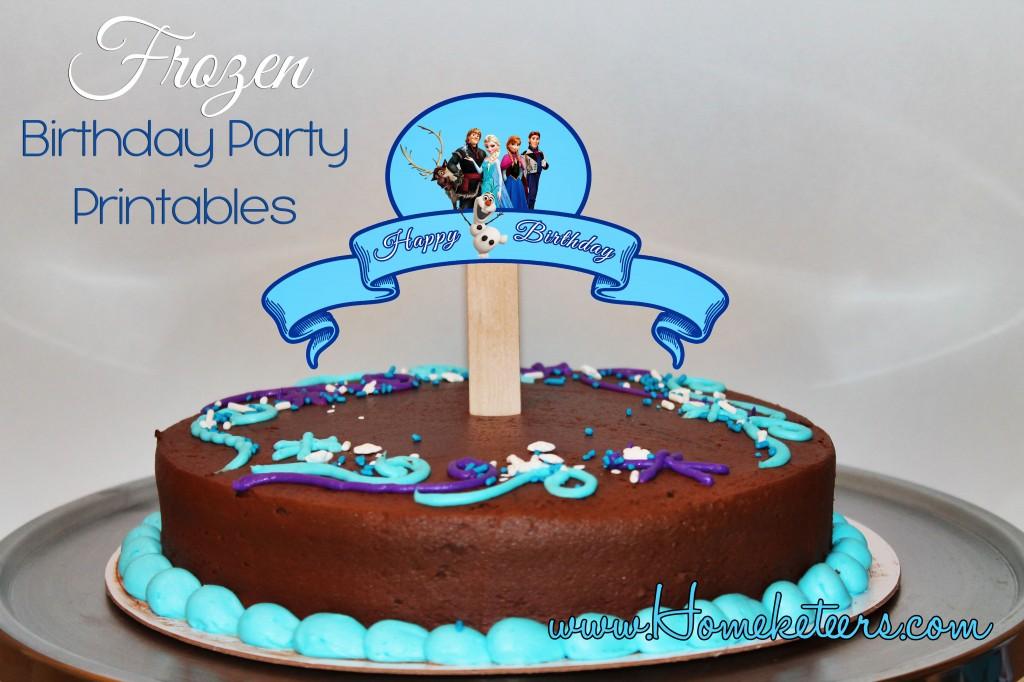 Disney\u0027s Frozen Birthday Party Printable Set ~ FREE