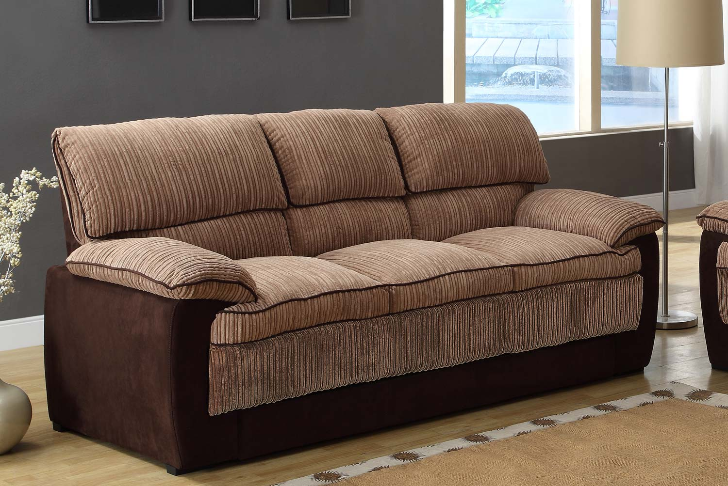 Corduroy Sofa Sectional Homelegance Mccollum Sofa Set - Brown - Corduroy And