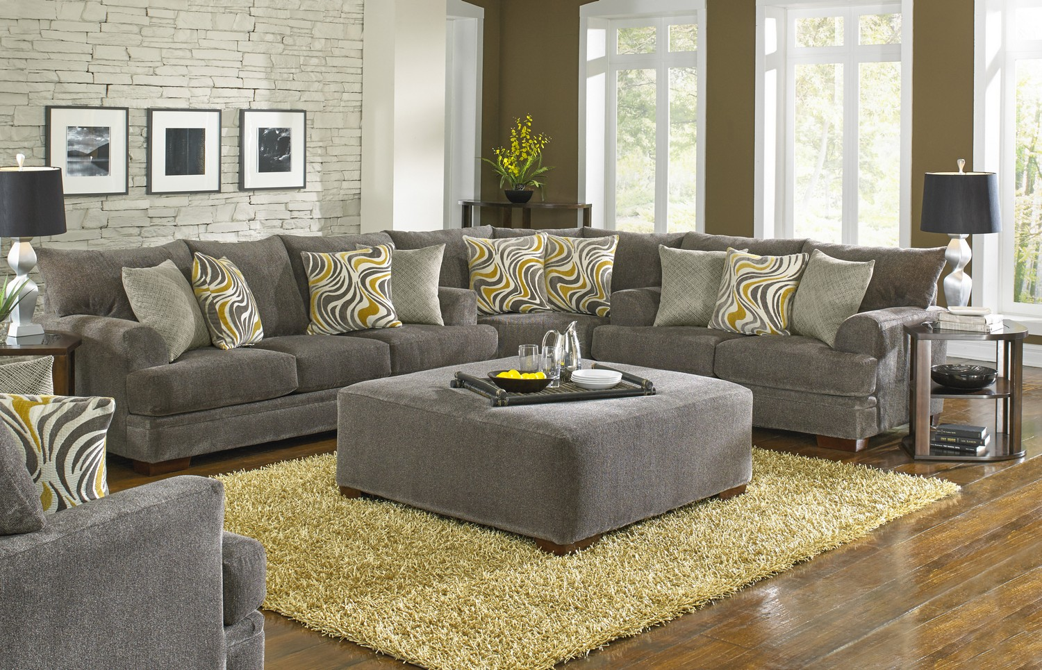 Sofa Set Olx Jaipur Jackson Crompton Sofa Sectional Sofa Set Pewter Jf 4462