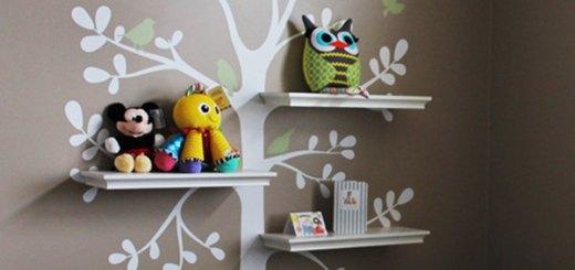 Wall Decor and Shelving Tree Baby Nursery