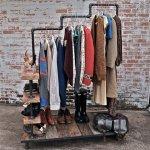 Industrial Garment Rack by stellableudesigns 1