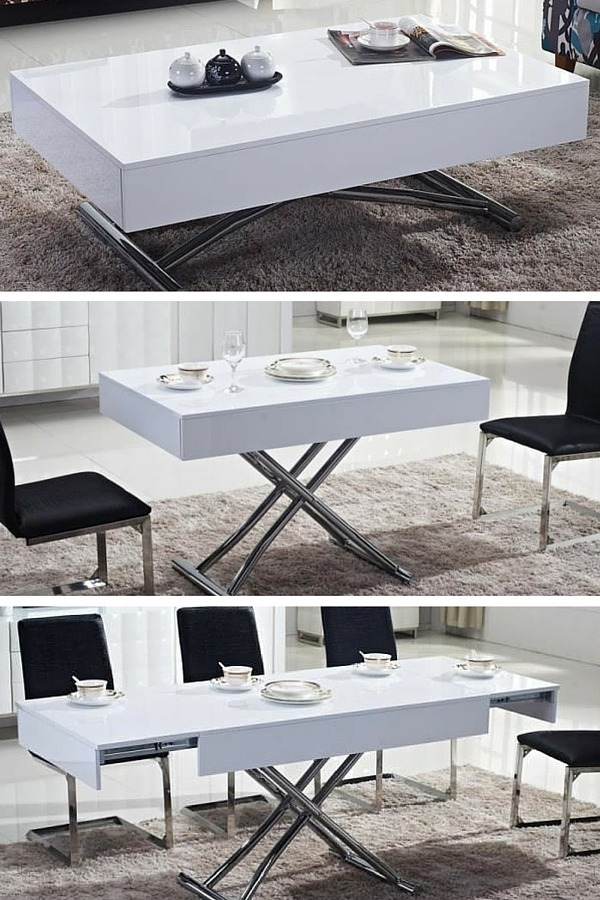 Meuble Modulable Salon Table Basse Transformable : Le Top10