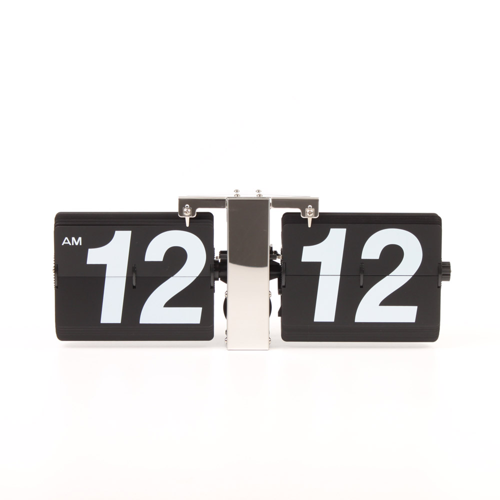 Flip Clock Giant Wall Flip Clock Black