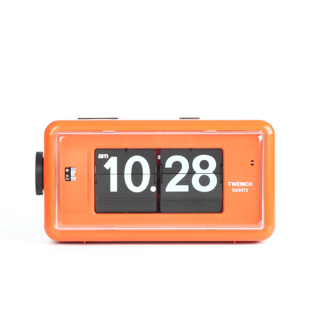 Flip Clock Twemco Alarm Flip Clock Al30 Orange