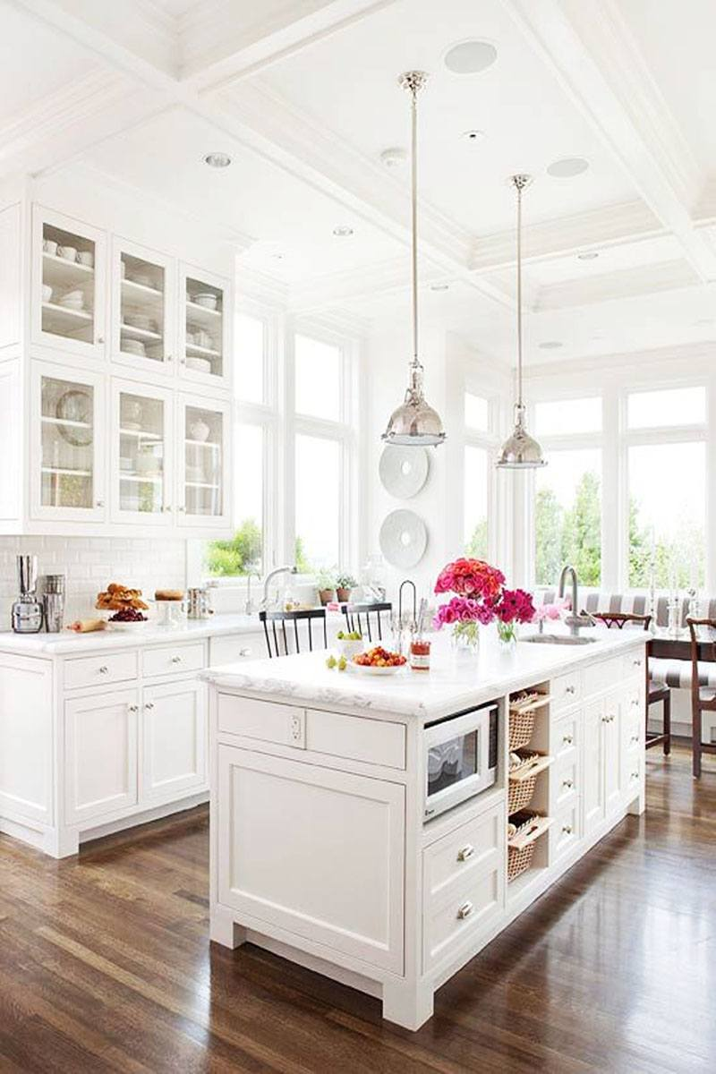 White Marble Island 50 Inspiring Kitchen Island Ideas Designs Pictures Homelovr