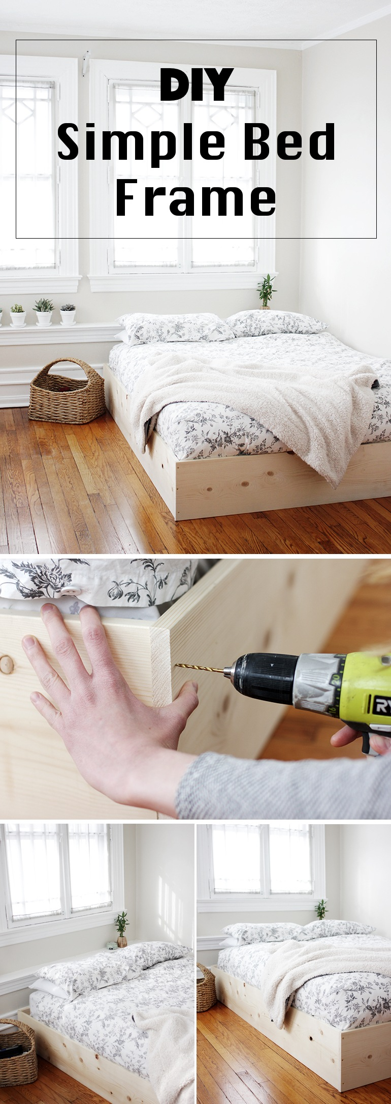Simple Bed 36 Easy Diy Bed Frame Projects To Upgrade Your Bedroom Homelovr