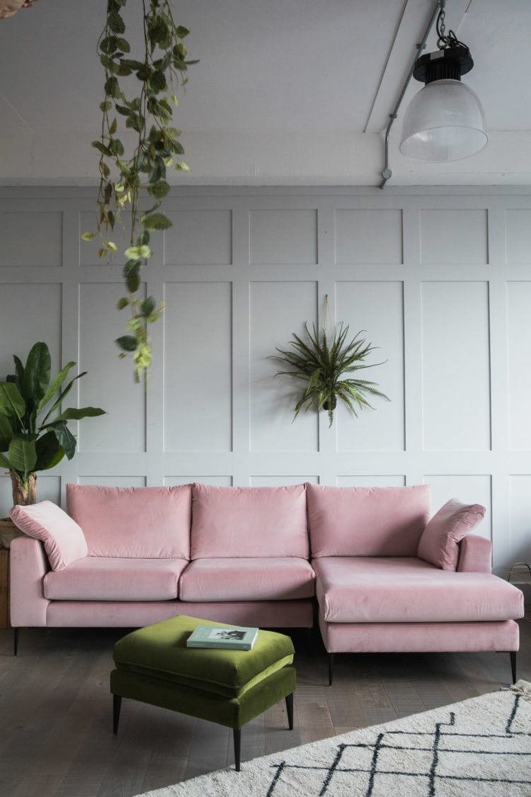 Wohnzimmer Weiblich Blush Coloured Sofa Room Ideas Ecosia