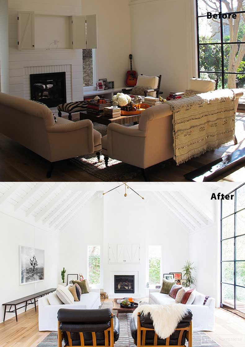 55 Living Room Design, Decor and Remodel Ideas (Before