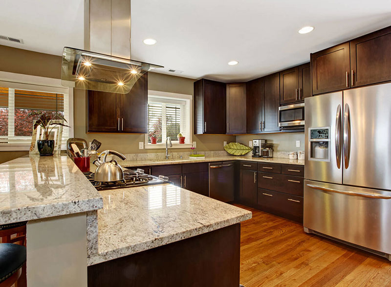 White Cabinets With Dark Granite Kashmir White Granite Countertops (pictures, Cost, Pros