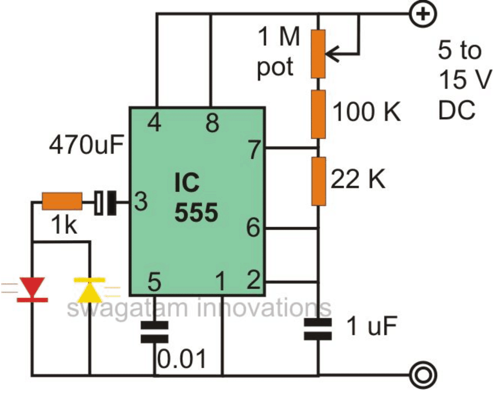555 Pcb Auto Electrical Wiring Diagram Timer Pdf Http Wwwnextgr Othercircuits 555lm555ne555timer Blinking Flashing And Fading Led Lights Using Ic