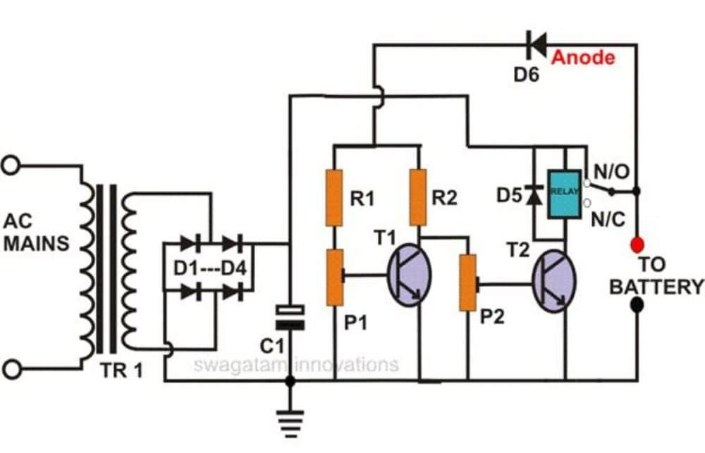 automatic solar power supply circuit