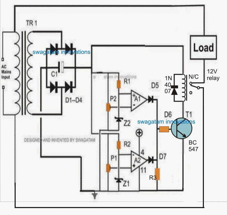 220v voltage stabilizer circuit diagram