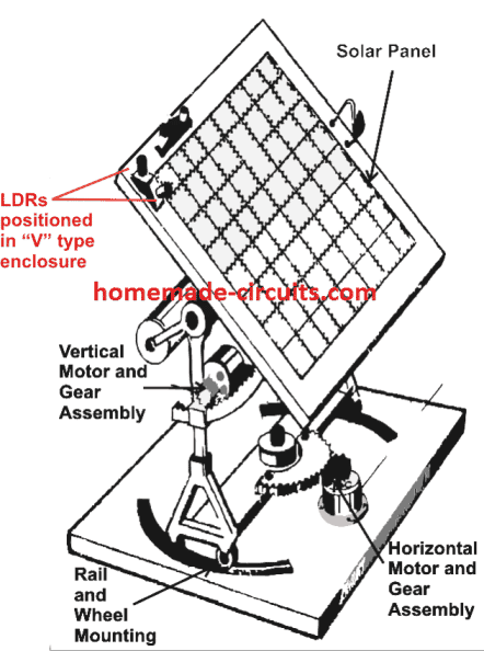 solar tracking system circuit