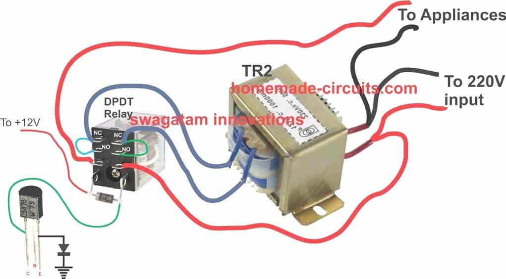 Automatic Voltage Stabilizer Circuit for TV sets and Refrigerator