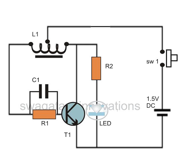 watt led driver using a joule thief circuit homemade circuit
