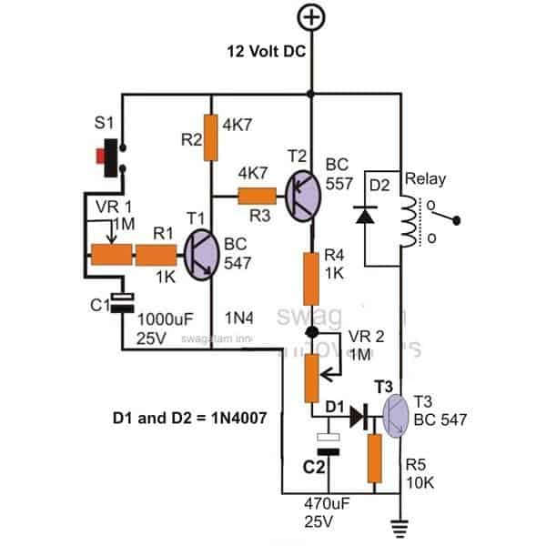 12 volt time delay off relay