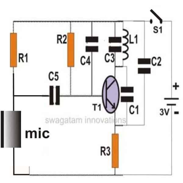 fm wireless microphone circuit electronic projects circuits