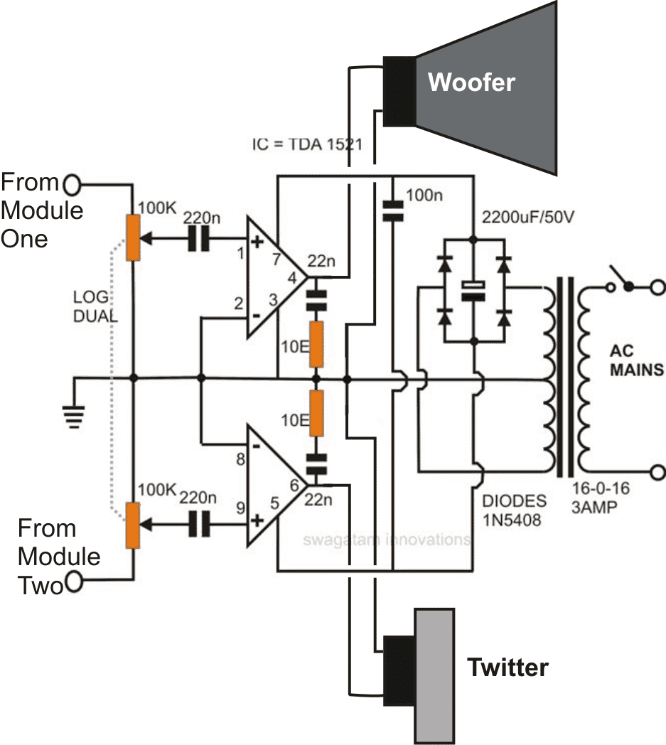 intex speaker circuit diagram