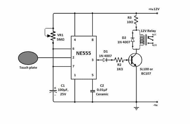 simplest triac dimmer switch circuit electronic circuit projects