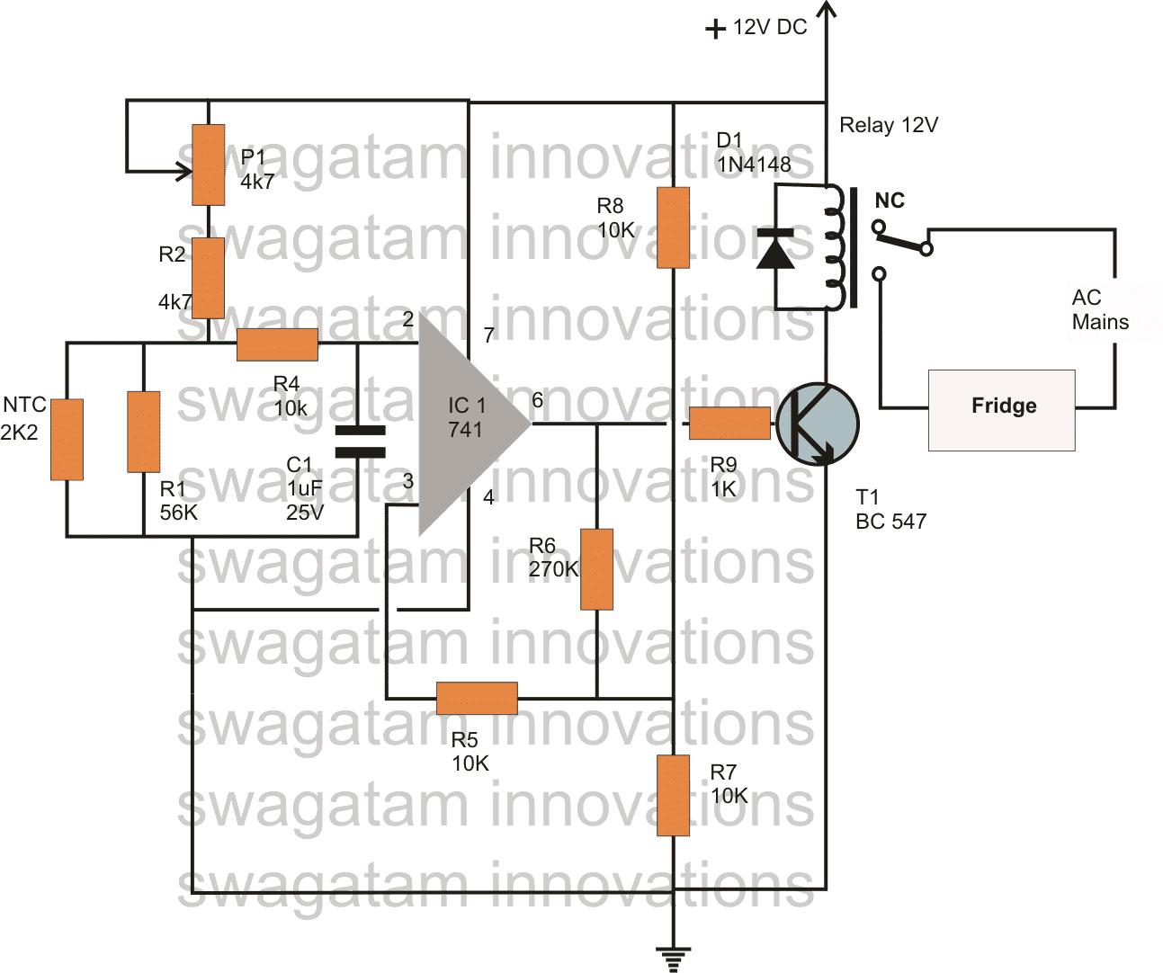 relay switch fridge