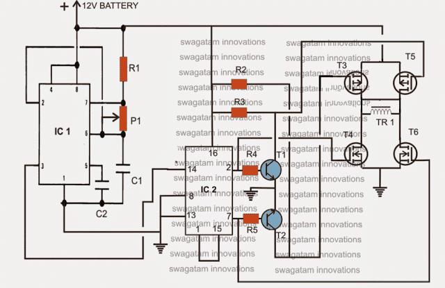 simple sine wave inverter circuit