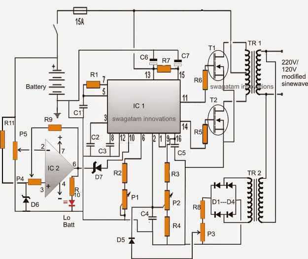 circuit diagram 2kva inverter