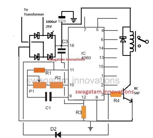 bidirectional motor timer circuit electronic circuit projects