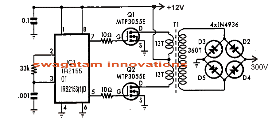 mosfet inverter circuits