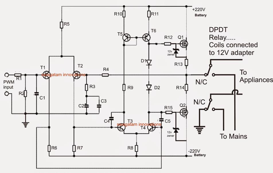 circuit diagram for online ups