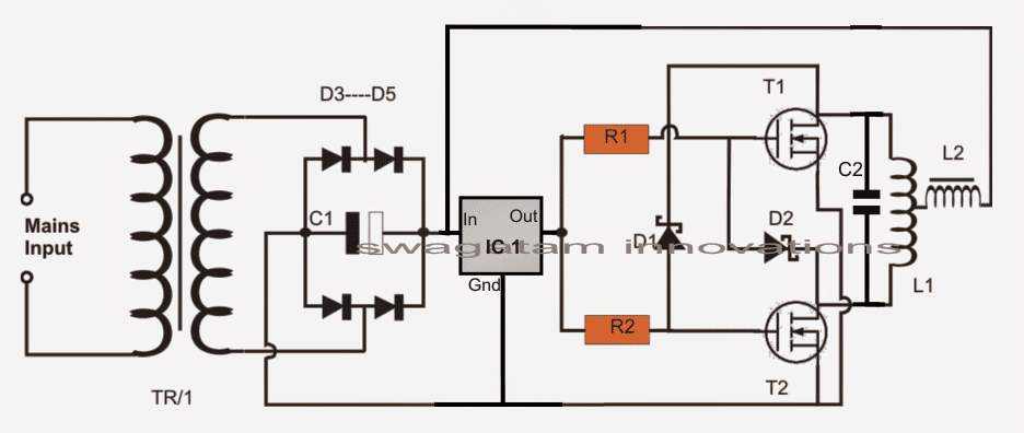 diy induction heater schematic