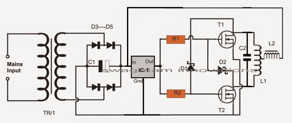 diy induction heater schematic