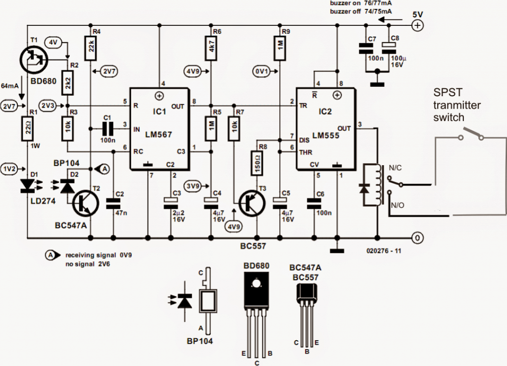 wireless home security system circuit diagram