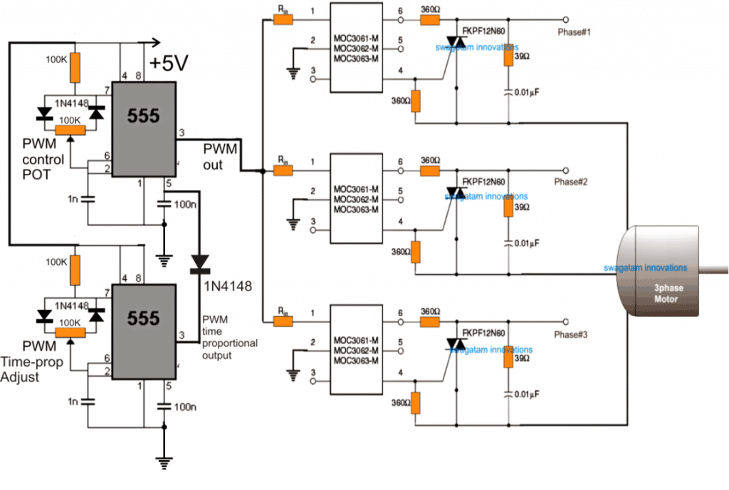 3 phase motor starter circuit diagram
