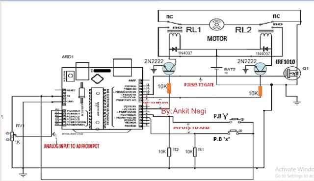 gsm module circuit diagram for motor control
