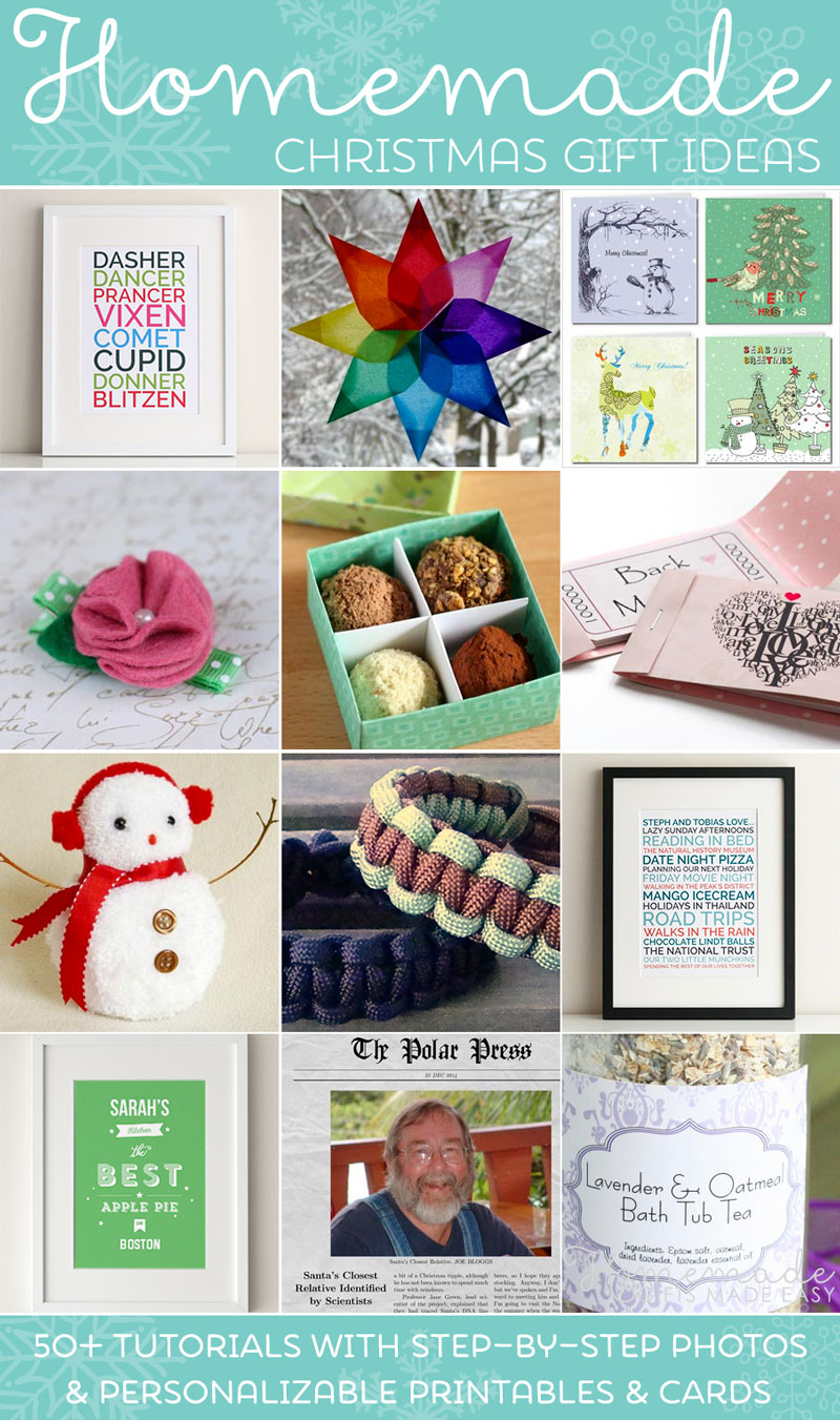 Christmas Homemade Gifts Easy Homemade Christmas Gift Ideas Make Inexpensive Presents And