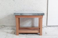 HomeMade Modern EP38 Wood + Concrete Kitchen Island