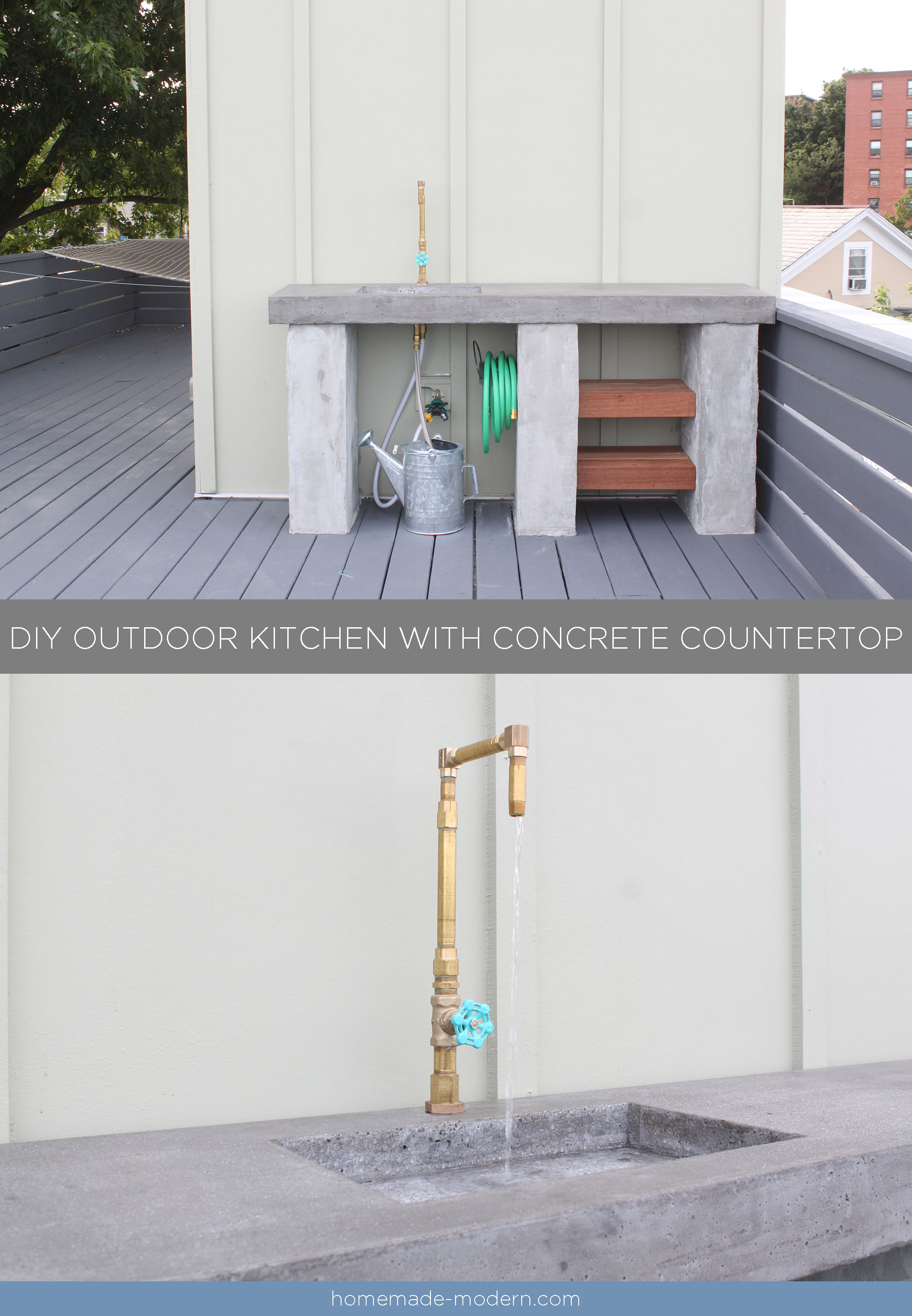 Concrete Countertops Book Homemade Modern Ep96 Diy Outdoor Kitchen With Concrete Countertop