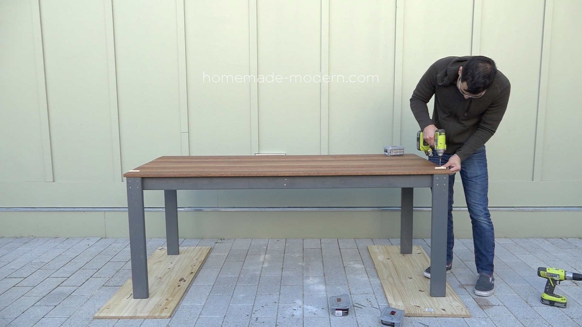 Home Depot Cedar Deck Boards Homemade Modern Ep101 Diy Outdoor Dining Table