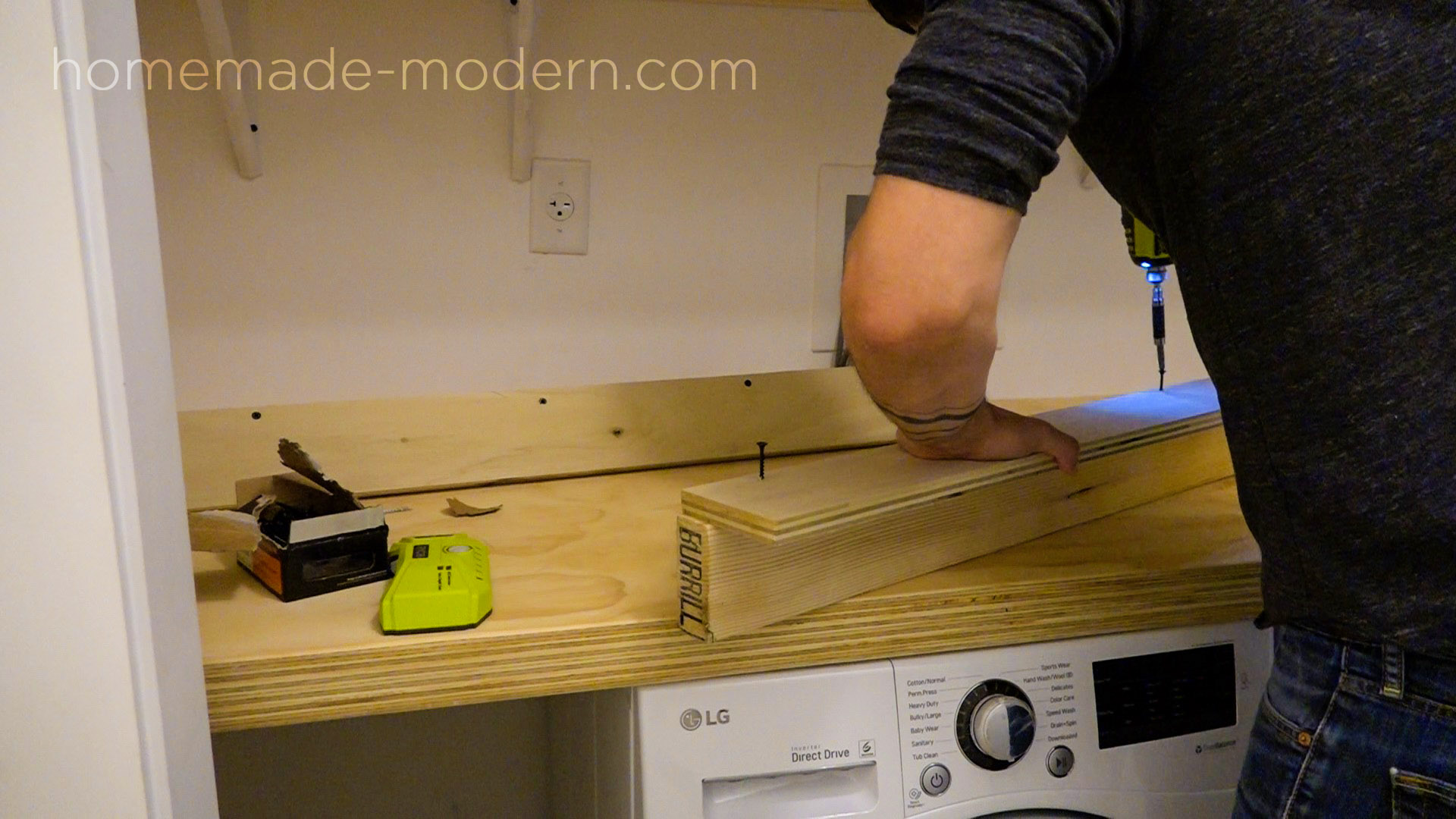 Laundry Room Countertop Material Homemade Modern Ep114 Diy Laundry Room Makeover