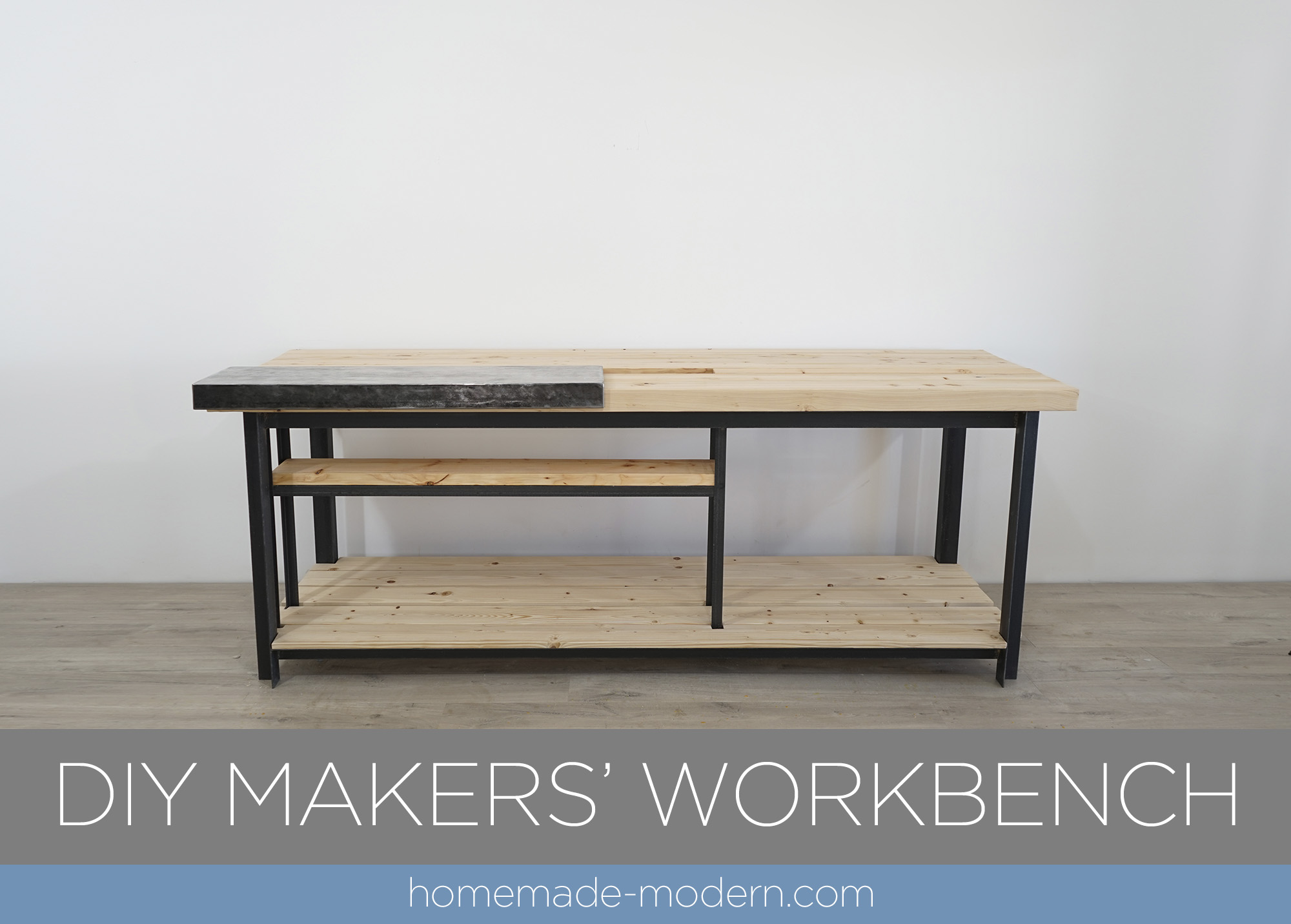 Diy Workbench With Wheels Homemade Modern Ep132 Diy Makers Workbench